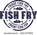 vintage friday fish fry sign | Shutterstock .eps vector #181157081