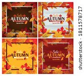 set of graphics for autumn sales | Shutterstock .eps vector #1811578717