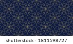 lacy floral motif line art... | Shutterstock .eps vector #1811598727
