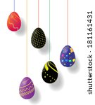 5 pieces of easter eggs | Shutterstock .eps vector #181161431