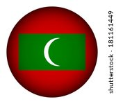 maldives flag button on a white ...   Shutterstock .eps vector #181161449
