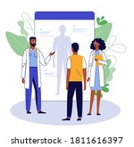 online medical consultation...   Shutterstock .eps vector #1811616397