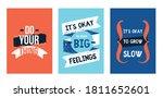 modern motivational quote set ...   Shutterstock .eps vector #1811652601