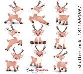 Cute Doodle Reindeer For...