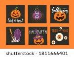 halloween set of invitation... | Shutterstock .eps vector #1811666401