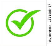 check mark vector icon....   Shutterstock .eps vector #1811688457