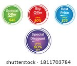 collection of sale discount... | Shutterstock .eps vector #1811703784
