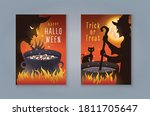 happy halloween night party ... | Shutterstock .eps vector #1811705647