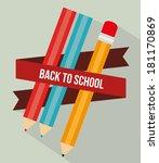 back to school over gray... | Shutterstock .eps vector #181170869