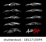 concept sports car silhouettes... | Shutterstock .eps vector #1811715094