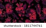 wide vintage seamless... | Shutterstock .eps vector #1811744761