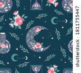 seamless pattern background ... | Shutterstock .eps vector #1811755447