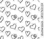 cute empty heart shapes in...   Shutterstock .eps vector #1811761114
