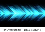abstract blue arrow light... | Shutterstock .eps vector #1811768347