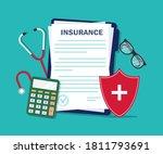 health insurance form. medical... | Shutterstock .eps vector #1811793691