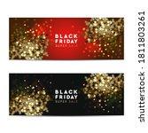 black friday super sale web... | Shutterstock .eps vector #1811803261