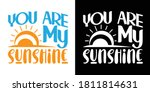 you are my sunshine printable... | Shutterstock .eps vector #1811814631