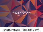 abstract triangle 3ds... | Shutterstock .eps vector #1811819194