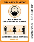 wear face mask sign for the... | Shutterstock .eps vector #1811831104