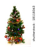 christmas tree with decorations ... | Shutterstock . vector #18118363
