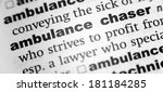 Small photo of Dictionary definition of the word ambulance chaser