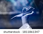 Small photo of Happy Yom Kippur.Happy new year.Jewish man in Tallit holding the Shofar (horn) of Rosh Hashanah (New Year Jew).Religious and Holidays in israel people of GOD.Peace Pray Freedom in Israel.Banner.
