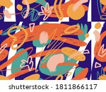 geometric vector pattern with...   Shutterstock .eps vector #1811866117