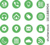 Web Icons In Pastel Green...