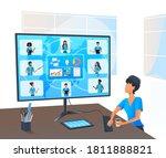 vector  senior business woman... | Shutterstock .eps vector #1811888821