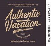 """authentic vacation"". original...   Shutterstock .eps vector #1811891947"