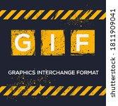gif mean  graphics interchange...   Shutterstock .eps vector #1811909041