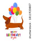 happy birthday to you  greeting ... | Shutterstock .eps vector #1811920807