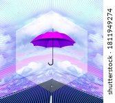 Contemporary Collage. Umbrella...