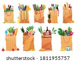 collection of paper shopping... | Shutterstock .eps vector #1811955757