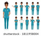 female african woman nurse... | Shutterstock .eps vector #1811958004