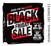 black friday sale banner layout ...   Shutterstock .eps vector #1811960611