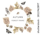 autumn forest nature frame.... | Shutterstock .eps vector #1811962897