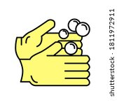 medical hand washing line icon... | Shutterstock .eps vector #1811972911