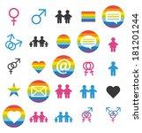 flat design. love  family and... | Shutterstock .eps vector #181201244