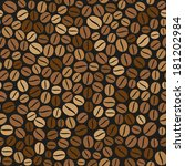 coffee beans seamless pattern... | Shutterstock .eps vector #181202984