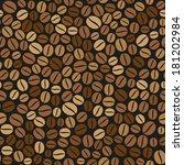 coffee beans seamless pattern... | Shutterstock .eps vector #181202984