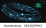 glowing ring with glitter and... | Shutterstock .eps vector #1812029941