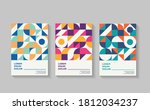 retro covers for annual report... | Shutterstock .eps vector #1812034237