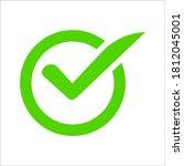 check mark vector icon....   Shutterstock .eps vector #1812045001