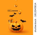 happy halloween. festive... | Shutterstock .eps vector #1812045814