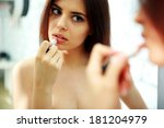 young beautiful woman looking... | Shutterstock . vector #181204979