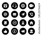 vector icon contact us for... | Shutterstock .eps vector #1812076624