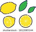 lemon illustration set material ... | Shutterstock .eps vector #1812085144
