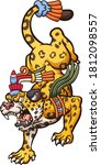 angry cartoon jaguar walking... | Shutterstock .eps vector #1812098557