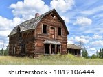 Old Abandoned Wooden House Or...
